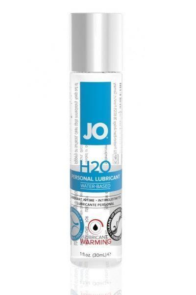 Классический возбуждающий лубрикант на водной основе JO H2O Warming 30 мл