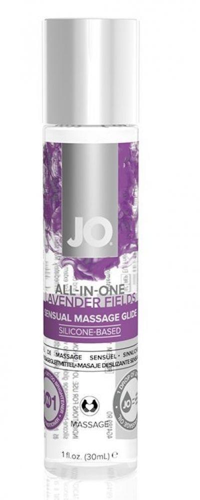 Гель-смазка на силиконовой основе с ароматом лаванды JO 30 мл All-In-One Massage Glide