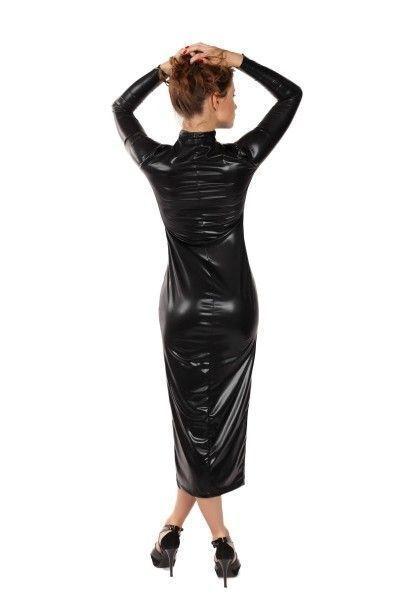 Платье на молнии MENSDREAMS, черное, S-M