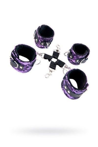 Кружевной бондажный комплект TOYFA Marcus пурпурный