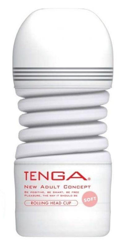 Мастурбатор Tenga Rolling Head Cup Gentle Вращающаяся Головка белый