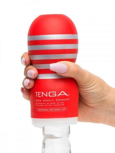 Мастурбатор Tenga Original Vaccum Cup Глубокий Ротик красный