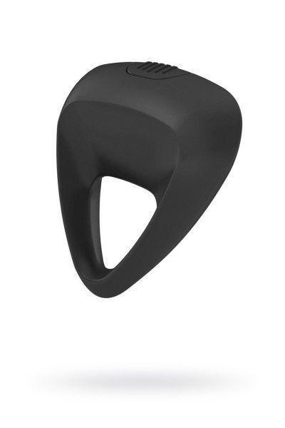 Эрекционное кольцо OVO инновационной трехгранной формы с мощной вибрацией, силиконовое, черное