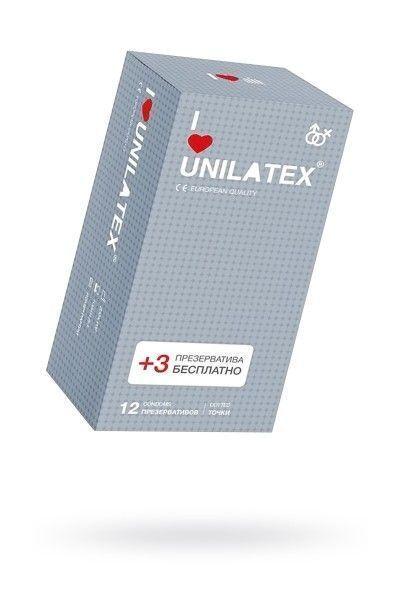 Презервативы Unilatex Dotted №12 с точками