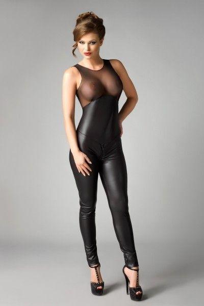 Комбинезон Me Seduce Demi, экокожа, чёрный, S/M