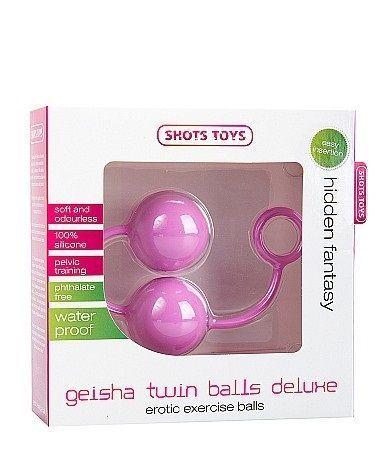 Вагинальные шарики Geisha Twin Balls Deluxe розовые