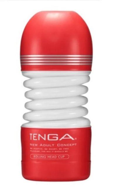 Мастурбатор Tenga Rolling Head Cup Вращающаяся Головка красный