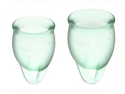 Набор менструальных чаш Satisfyer Feel confident Menstrual Cup светло-зеленый 2 шт
