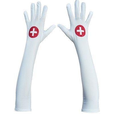 Перчатки медсестры Le Frivole белые OS