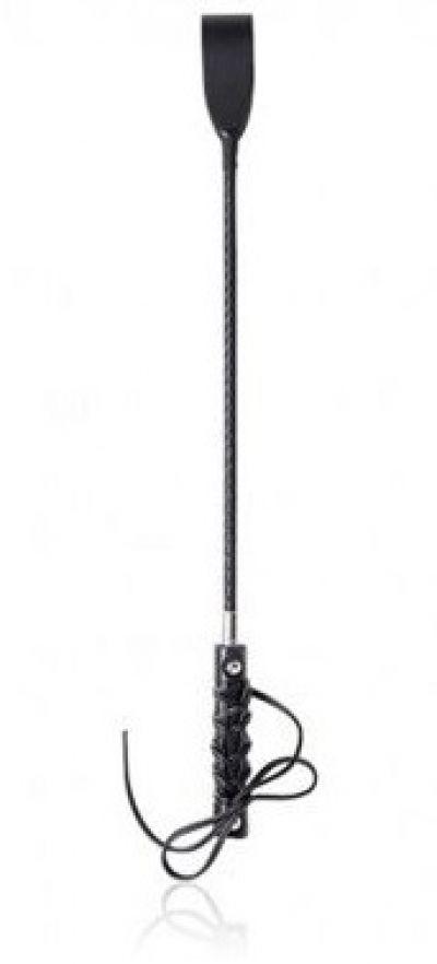 Стек с плетеной ручкой черный 58,5 см