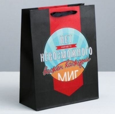 Подарочный пакет  Мистер совершенство  12х15х5,5 см