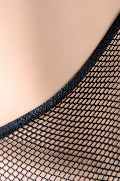 Костюм-сетка Candy Girl, с кружевным воротником, черный, OS