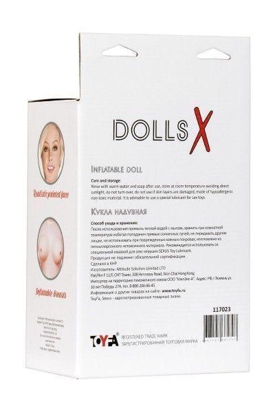 Кукла надувная Cecilia , блондинка, TOYFA Dolls-X, с двумя отверстиями, 160 см