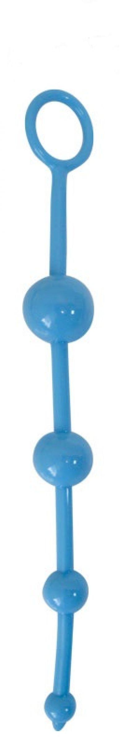 Анальный стимулятор цепочка цвет голубой 24,5 см