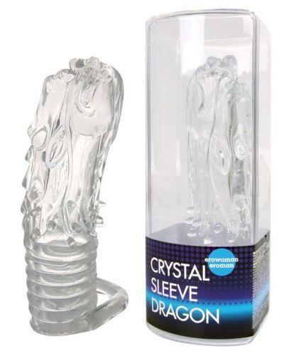 Насадка закрытая в форме дракона Crystal sleeve dragon 13,5 см