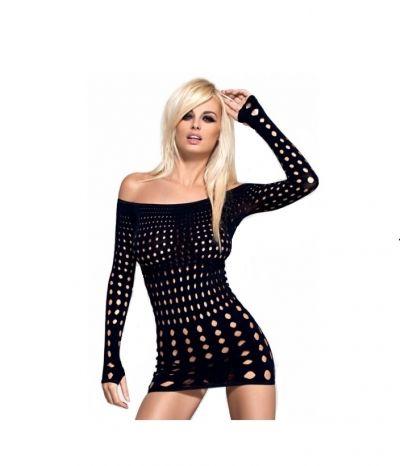 Платье сетка Rocker dress Obsessive черное S/M/L