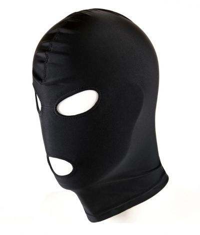 Маска-шлем с открытыми глазами и ртом черная