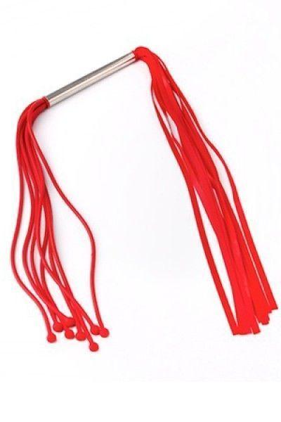Плеть с шариками двойная красная 40 см