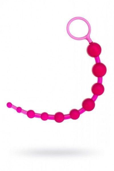 Анальная цепочка розовая ToyFa 26 см