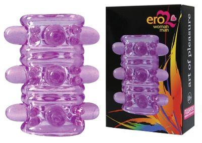Насадка с шипами фиолетовая Crystal Sleeve 5 см