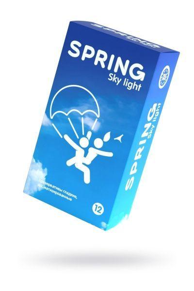 Презервативы Spring  Sky Light, классические, латекс, 19,5 см, 12 шт