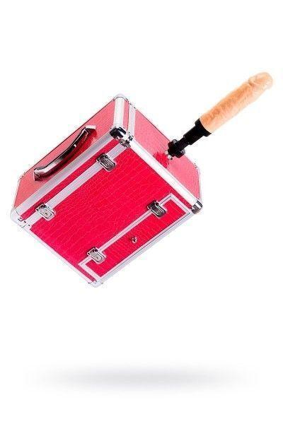 Секс-чемодан, Diva, Wiggler с двумя насадками, металл, розовый, 17 см