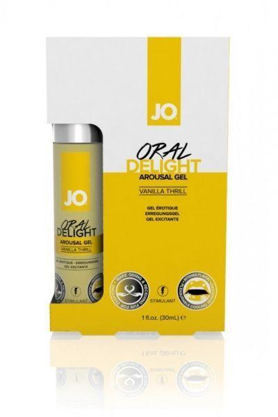 Стимулирующий гель для оральных ласк с десенсибилизацией Oral Delight ванильный 30 мл