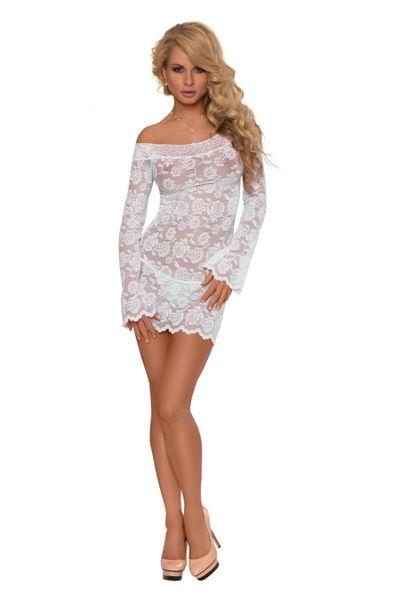 Ночная сорочка с рукавами SoftLine Collection Lamia, белый, M/L