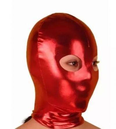 Маска-шлем с открытыми глазами красная