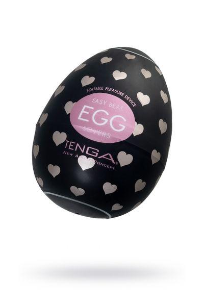 Нереалистичный мастурбатор TENGA Egg Lovers, TPE, черный, 6,1 см
