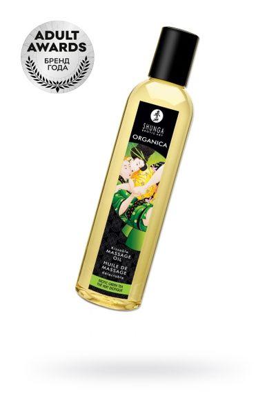Масло для массажа Shunga Organica Exotic Green Tea, натуральное, с расслабляющим эффектом, с аромато