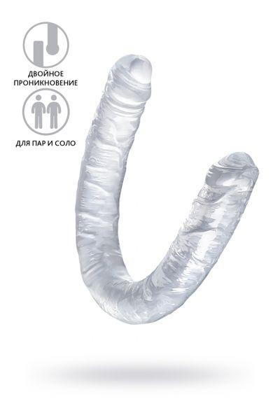 Фаллоимитатор двусторонний TOYFA Double Dildo, TPR, прозрачный, 40 см