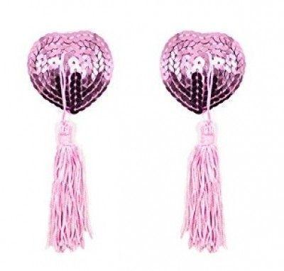 Пэстисы наклейки на грудь в форме сердечек розовые
