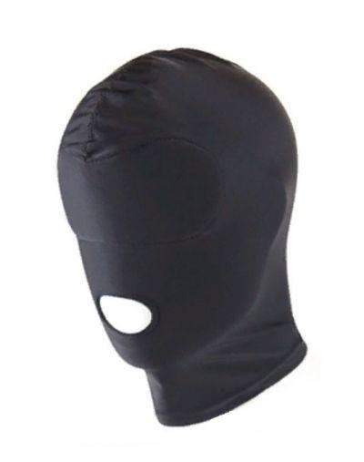 Маска-шлем с открытым ртом черная