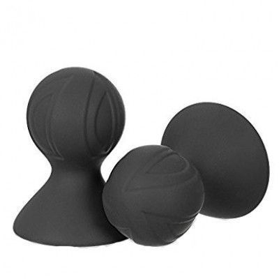 Помпа для сосков силиконовая черная 7 см