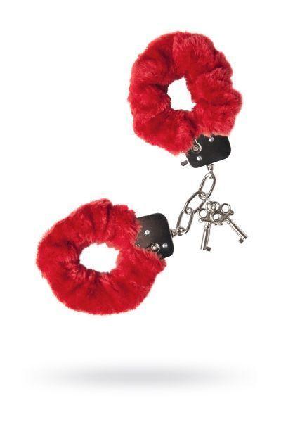 Наручники 'Штучки-дрючки' меховые красные