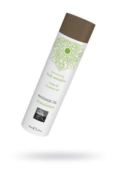 Массажное масло stimulation - Лотос & кокосовое масло 100 мл.
