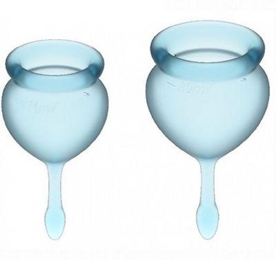 Набор менструальных чаш Satisfyer Feel good Menstrual Cup голубой 2 шт