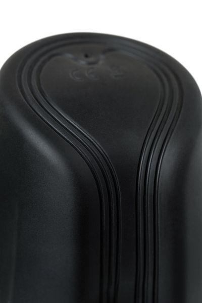 Вибромастурбатор нереалистичный  Aircraft Cup D-PENG, силикон, черный, 16 см