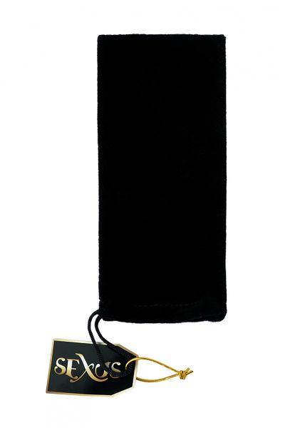 Анальная втулка Sexus Glass, стеклянная, бело-чёрная, 11,6 см