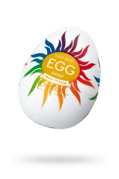 Нереалистичный мастурбатор TENGA Egg  Shiny Pride Edition, TPE, белый, 6,1 см