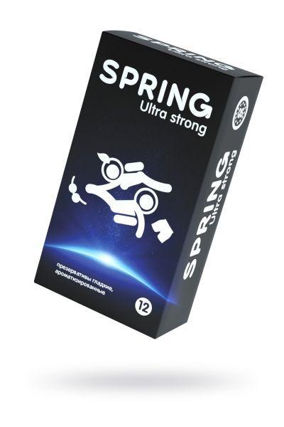 Презервативы Spring  Ultra Strong, классические, латекс, 19,5 см, 12 шт