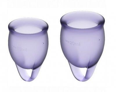 Набор менструальных чаш Satisfyer Feel confident Menstrual Cup фиолетовый 2 шт