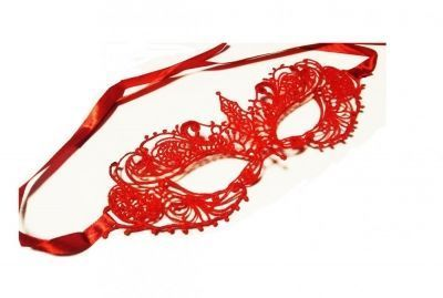 Ажурная маска красная Кэролин