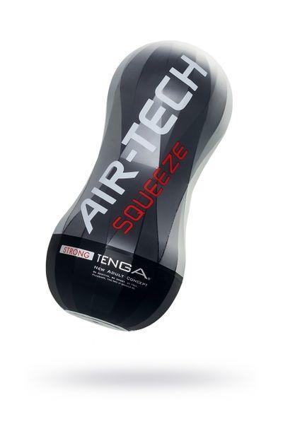 Нереалистичный мастурбатор TENGA Air-Tech Squeeze Strong, TPE, белый, 17 см