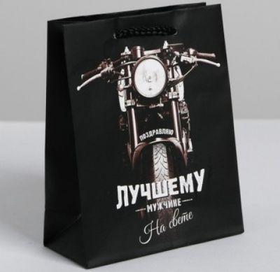Подарочный пакет  Лучшему во всем мужчине  23х18х8 см