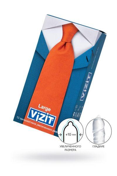 Презервативы VIZIT Large Увеличенного размера 12 шт, латекс, 18,5 см