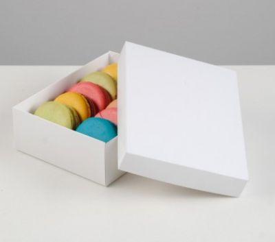 Коробка картонная без окна, белая, 16,5 х 12,5 х 5,2 см