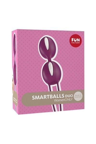 Шарик вагинальные Fun  Factory SMARTBALLS DUO фиолетово-белый