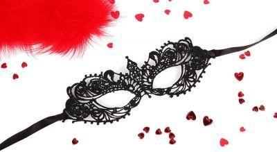 Ажурная маска черная Кэролин